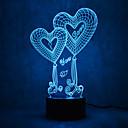 Boże Narodzenie miłość dotknąć oślepiać 3d doprowadziły nocne światło 7colorful dekoracji atmosfery światła nowości oświetlenie Boże