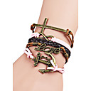 Women's Wrap Bracelet Friendship Fashion Bohemian Alloy Cross Anchor Love Jewelry For Halloween Birthday Gift Valentine Christmas Gifts