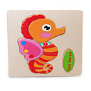 Jigsaw Puzzles Jigsaw Puzzle Building Blocks DIY Toys Fish Horse Wooden