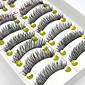 10 Pairs Handmade Natural Long Black False Eyelashes Cross Soft Thick Fake EyeLashes Makeup Eyelashes Extensions