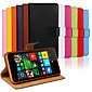 Plain Leather Wallet Card PU Case with Stand for Nokia 640(Assorted Colors)
