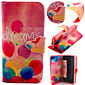 Balloon Pattern with Card Bag Full Body Case for iPhone 5C
