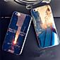 iPhone 7 Plus Sunset Sunrise City Blue Light Reflective Blu-ray Soft TPU Case for iPhone 6s 6 Plus