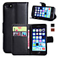 Wallet/Card Holde/with Stand/Flip Solid Color PU Leather Case for iPhone 7 7 Plus 6s 6 Plus 5SE 5S 5