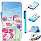 farbige Zeichnung PU-Leder mobilen Holster einschließlich Anti-Staub-Stecker Stift für iPod-Note 5