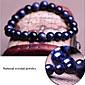 Blue Starry Sky Natural Genuine Crystal Gemstones Tibetan Beaded Strand Bracelet,Unisex Jewelry