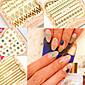 6 PCS Faddish 3D Metal Texture Nail Stickers