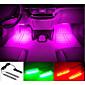 Auto dekorative Atmosphäre Lampe Ladung führte Innenboden Dekoration Licht mit Mini-Dimmer einzelne Farbe 2pcs führte