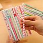 Japan und Südkorea Briefpapier kleine frische Blumenaquarellstiftfarbe Gelschreibern schwarzen Anzügen 10